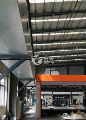 导轨移动式喷漆房雷竞技官网ios收集滑轨风管系统